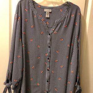 Catherine's size 4X 3/4 length sleeve blouse.